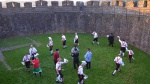 dancing at dawn, Totnes Castle, 1 May